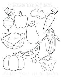 Healthy Eating Coloring Pages Food Coloring Pictures Combined With