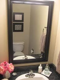 Frames For Bathroom Mirrors Home Decor Color Trends Classy Simple - Bathroom mirror design ideas
