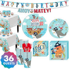 Pirate Shark 1st Birthday Party Supplies Party City