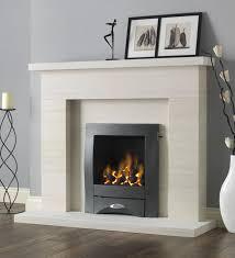 pure glow drayton limestone fireplace