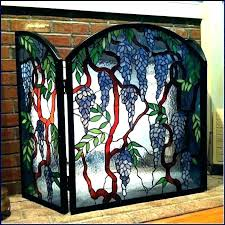 stained glass fireplace screen stained glass fireplace screen stained glass fireplace beveled screen clear s screens