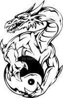 Dragon Tetování Znakem Jin Jang Vektory Z Knihovny Clipartme