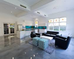 Polished Concrete Floor Kitchen Horrible Inside House Design Idea With Good Polished Concrete
