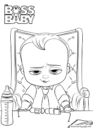 Print Boss Baby 2 Like A Boss President Coloring Pages Games In