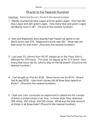 Round to the Nearest Hundred Worksheet 1
