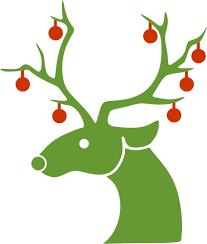 reindeer christmas clipart. Simple Clipart Christmas Reindeer Silhouette With Reindeer Clipart