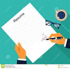 Resume Vector Simple Resume Template