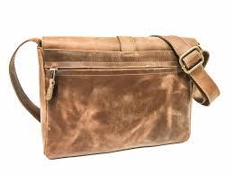 urban distressed leather messenger bag medium brown