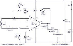 electromagnetic field sensor circuit electronic circuits and electromagnetic field sensor circuit