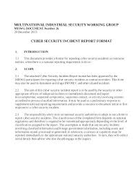 Security Incident Report Template Word Fresh Example Of Large It