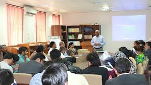 Dr. Mohammad Aslam Chaudhry conducts session with USPCAS-W MS/PhD Students  on Exchange Program - USPCAS-W