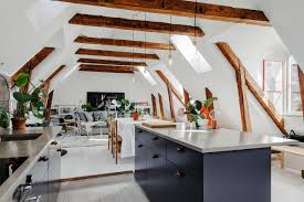 Attic Kitchen Attic Apartment Via Innerstadsspecialisten Living Room Blog