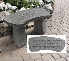 memorial garden bench those we have held