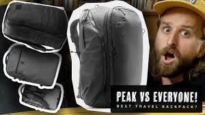 Peak Design Vs Peak Design Travel Bag Vs Nomatic Wandrd Goruck