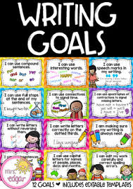 Goal Chart Examples Writing Goals Chart Editable
