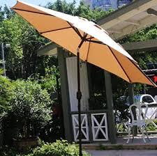 best outdoor umbrella with solar lights