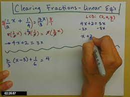 linear equations with fractions you