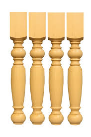 set of 4 knotty pine unfinished wooden