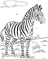 Small Picture Zebra Coloring Page Smiling Zebra Coloring Page 300x289jpg mosatt