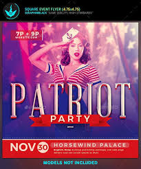 Political Event Flyer Patriot Party Political Square Flyer Template Events Flyers