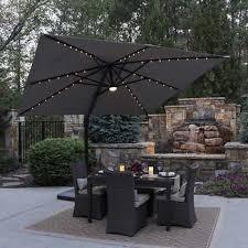 10 led solar square offset umbrella