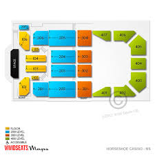 Horseshoe Venue Seating Chart Valley View Casino Online Charts Collection
