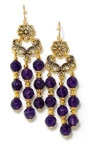 05 14 100 purple quartz chandelier earrings