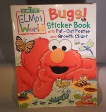 Red Book Growth Chart Details About Sesame Street Elmos World Bugs Sticker Book Growth Chart Poster M3