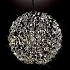 esme huge 1 2 meter diameter ceiling pendant chrome crystal sphere