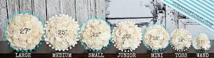 Flower Bouquet Sizing Chart Google Search White Wedding