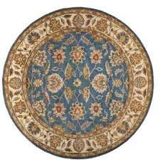 blue round area rugs old cream 8 ft x rug target