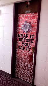Christmas dorm door decorations-University of Arkansas