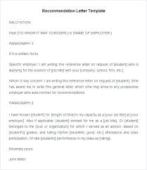 Job Recommendation Letter 8 Free Word Excel Format Intended For ...