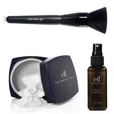 elf studio high definition loose face powder with makeup mist and set clear 2 02