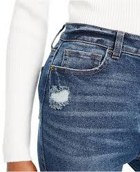 Juniors High Rise Distressed Skinny Jeans