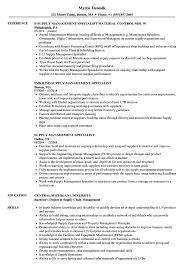 Sample Management Specialist Resume Supply Management Specialist Resume Samples Velvet Jobs