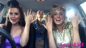 Girl singing in the car
