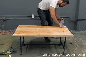 pipe leg coffee table homemade modern pipe coffee table step diy pipe leg coffee table