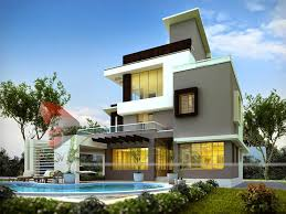 3d rendering home perspective india
