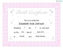 Blank Birth Certificate Images Fascinating Free Printable Baby Birth Certificate Template Doll Meetwithlisa