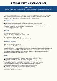 Pediatric Nurse Resume Sample Resume Writing Services