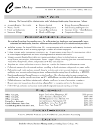 Manager Resume Objective New Resume Samples Office Manager