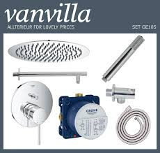 Set Ge105 Up Vanvilla Mit Duscharmatur Grohe Essence Mischer