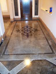 stained cement floors. Hallway With Acid Wash Concrete Floors Craftsman Style Homes Stained Cement W