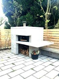 outdoor cooking fireplace with pizza oven kits grates fi
