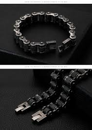 Innovato Design Jewelry Antique Black Motorcycle Link Chain Bracelet Innovatodesign