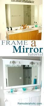 diy bathroom mirror frame ideas cool and chic decoration ideas for bathrooms 6 large bathroom diy bathroom mirror