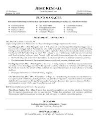 free fund manager resume exampleclick here