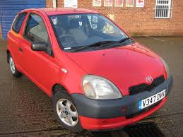 Toyota yaris 1.0 litre petrol manual 2000 model 3 doors hatchback ...
