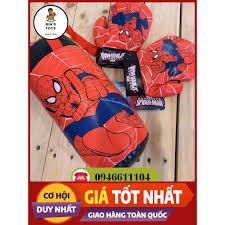 Bao găng tay đấm bốc người nhện cho bé trai năng động túi cát treo đồ chơi  Spider-man chính hãng cho trẻ em, Giá tháng 11/2020
